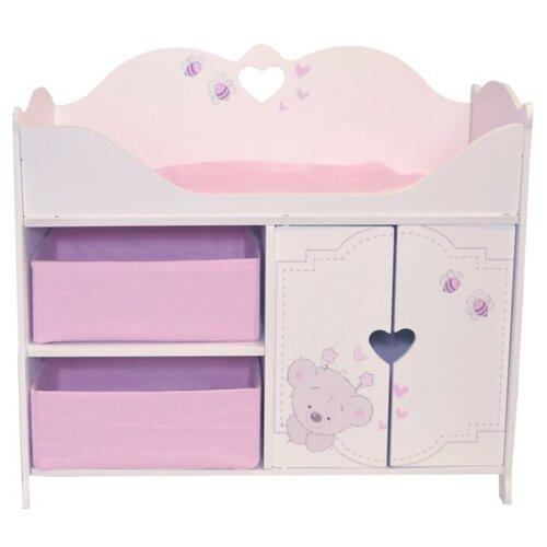 Купить PAREMO Кроватка-шкаф для кукол Рони, Стиль 1 (PRT220-01) белый/розовый, Мебель для кукол