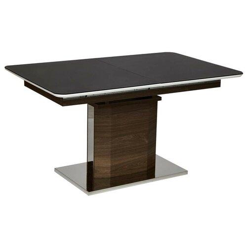 Стол кухонный TetChair Radcliffe EDT-VG002, раскладной, ДхШ: 140 х 90 см, длина в разложенном виде: 170 см, коричневый/черный стол кухонный signal albert раскладной дхш 100 х 60 см длина в разложенном виде 140 см белый лак