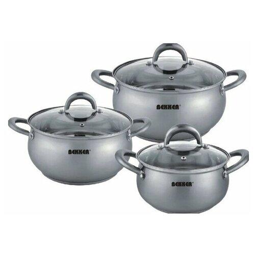 Набор посуды BEKKER BK-1633 PREMIUM COMFORT 6 предметов. набор bekker premium bk 1619