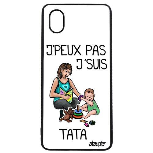 "Чехол на телефон Galaxy A01, ""Не могу - стала тетей!"" Пародия Семья"