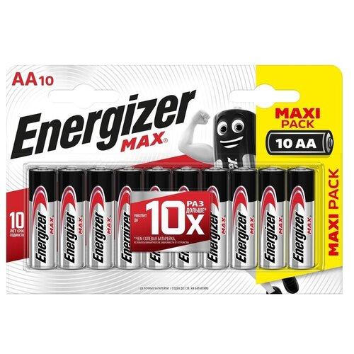 Фото - Батарейка Energizer Max AA/LR6, 10 шт. батарейка energizer ultimate lithium aa 4 шт