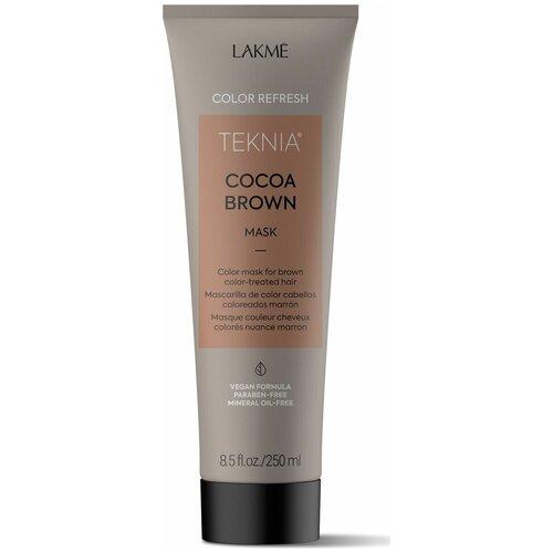 Фото - Lakme Teknia Refresh Cocoa Brown Маска для обновления цвета коричневых оттенков волос, 250 мл lakme дорожный набор восстанавливающий шампунь 100 мл кондиционер 100 мл маска 50 мл lakme teknia