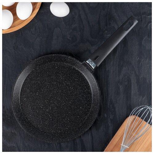 Сковорода блинная 240мм АП (темный мрамор) 4206779 сковорода d 24 см kukmara кофейный мрамор смки240а
