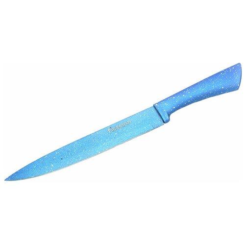 Фото - Нож для нарезки мяса или рыбы Fissman Lagune, лезвие 20 см, голубой нож для нарезки мяса или рыбы fissman tanto лезвие 20 см черный