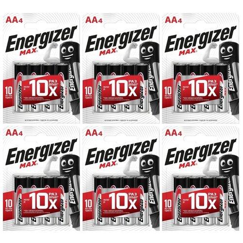 Фото - Батарейка Energizer Max AA/LR6, 4 шт., 6 уп. батарейка energizer ultimate lithium aa 4 шт