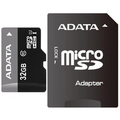 Фото - Карта памяти ADATA Premier microSDHC Class 10 UHS-I U1 32GB + SD adapter карта памяти smartbuy microsdhc class 10 32gb sd adapter