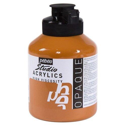 Краска акриловая Pebeo Studio Acrylics (Сиена натуральная), 500 мл краска акриловая pebeo studio acrylics сиена натуральная 500 мл