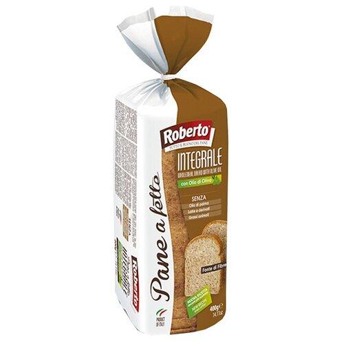 Roberto Хлеб Pane a fette Integrale пшеничный цельнозерновой тостовый в нарезке, 400 г