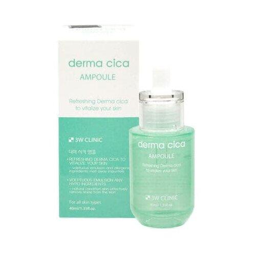 Купить 3W Clinic Derma Cica Ampoule Успокаивающая сыворотка для ухода за кожей лица с экстрактом центеллы азиатской, 40 мл