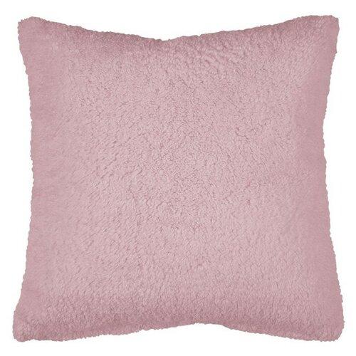 Подушка 40х40см декоративная, шерпа розовая Бельвита