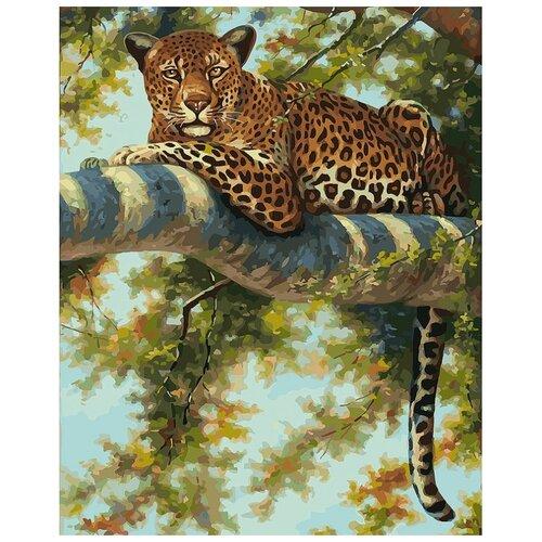 Белоснежка Картина по номерам Леопард в тени ветвей 40х50 см (276-AB) картина по номерам 40х50 см леопард в лесу gx8340