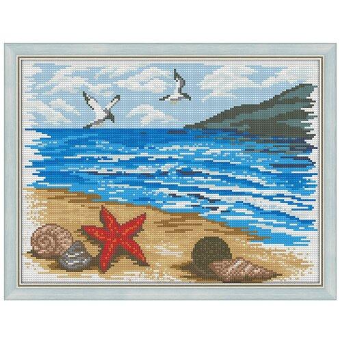 Алмазная живопись Набор алмазной вышивки Морской берег (АЖ-1362) 40х30 см алмазная живопись набор алмазной вышивки березы у озера аж 1340 40х30 см