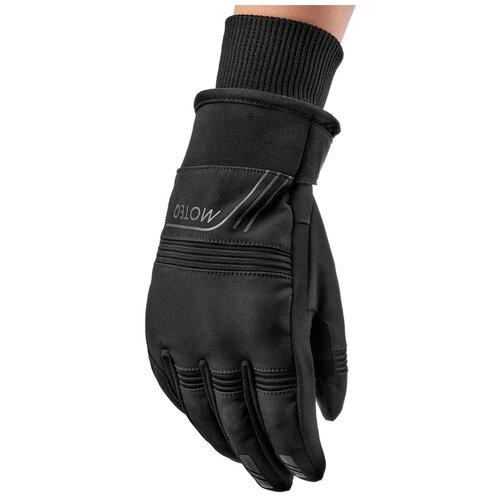 Перчатки туристические MOTEQ Pronto, мужской(ие), черный, размер L