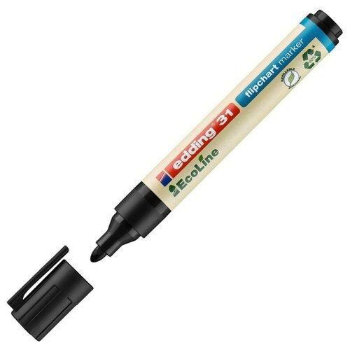 Купить Маркер по бумаге (для флипчартов) EDDING 31/1 Ecoline, 1, 5-3 мм, черный 2 штуки, Маркеры
