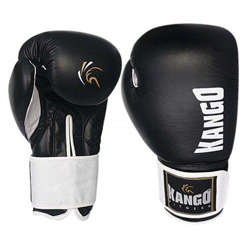 Перчатки боксерские Kango BMK-003 Black/White PU 12 унций