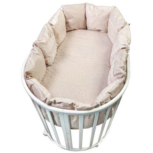 Фото - Сонный Гномик бортики-подушки Версаль дымчато-бежевый сонный гномик бортики подушки стрекоза егоза розовый