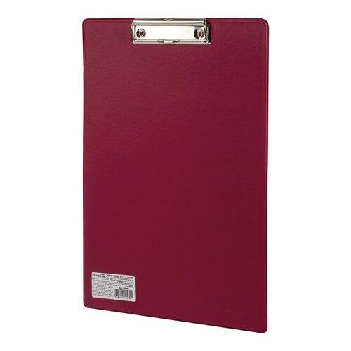 ОфисМаг Папка-планшет с верхним прижимом А4, картон/ПВХ бордовый