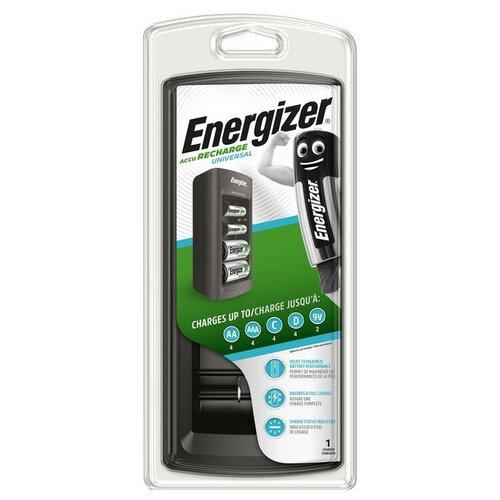 Зарядное устройство Energizer универсал.: 2/4 слота AA/AAA/C/D/9V без акк