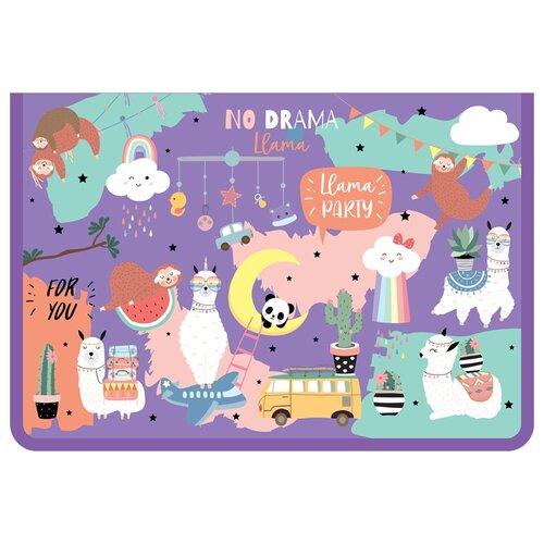 Фото - ArtSpace Папка для тетрадей на молнии Cute party A4, ламинированный картон фиолетовый artspace папка для тетрадей на молнии пингвинята a4 ламинированный картон серебристый голубой
