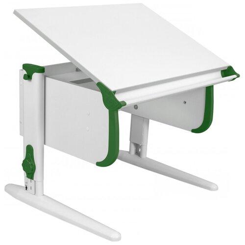 Фото - Стол детский ДЭМИ СУТ-24 75x55 см белый/зеленый/белый стол дэми white double сут 25 01д 120x82 см клен зеленый бежевый