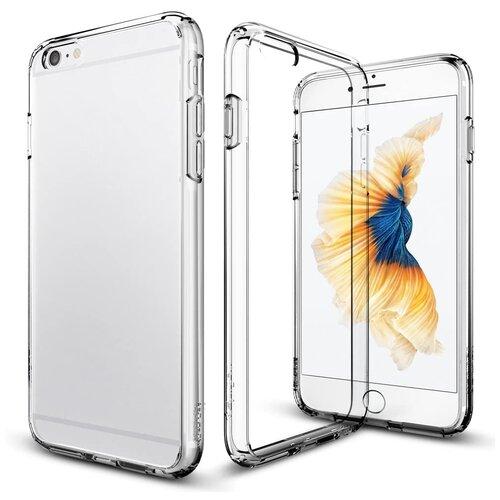Прозрачный силиконовый чехол (накладка) для телефона Apple iPhone 6 и iPhone 6S / Тонкий чехол для смартфона Эппл Айфон 6 и Эпл Айфон 6С с протекцией от прилипания Premium