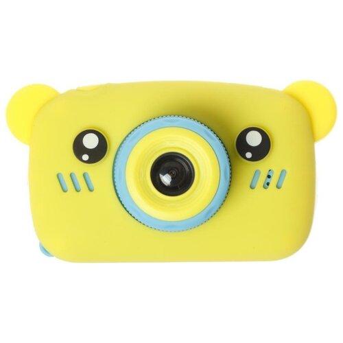 Фото - Фотоаппарат GSMIN Fun Camera Bear со встроенной памятью и играми желтый/голубой тапочки с памятью размер 40 41 комфорт