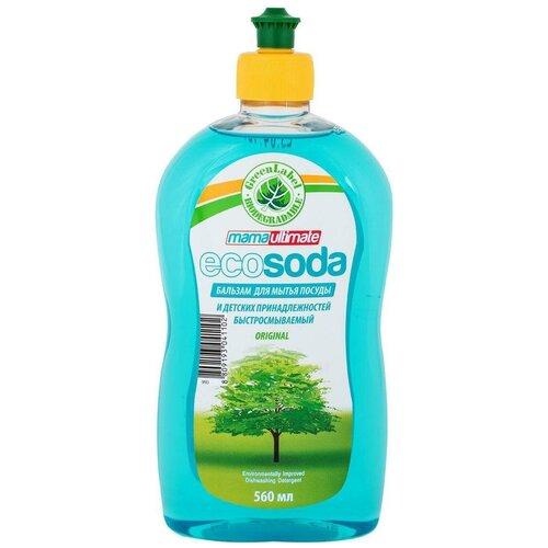 Фото - Mama Ultimate Бальзам для мытья посуды EcoSoda, 0.56 л средство для мытья посуды ecosoda 1л бальзам быстросмываемый