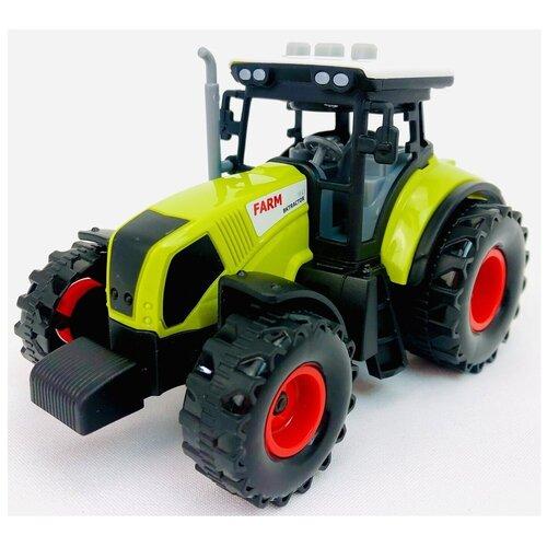 Трактор инерционный, светятся фары, звук клаксона, звук мотора, звук заднего хода, детская игрушка Farm 550-1E, 15х10х9 см