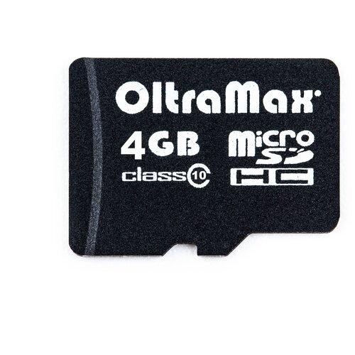 Фото - Карта памяти OltraMax microSDHC Class 10 4 GB карта памяти oltramax microsdhc class 10 32 gb
