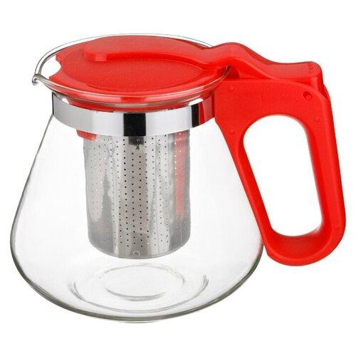 Agness Заварочный чайник с фильтром 700 мл, красный