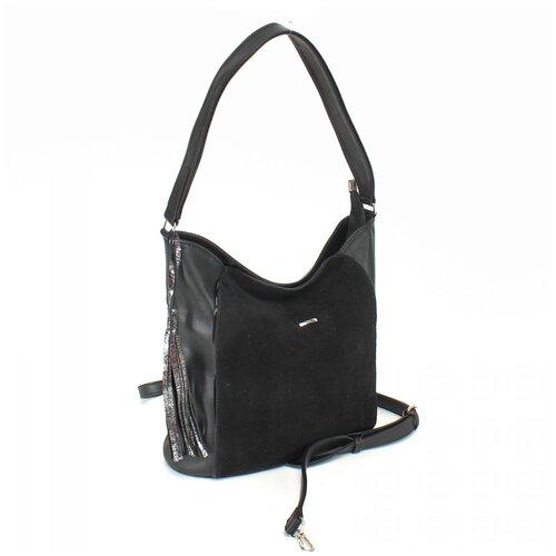 Женская сумка на плечо экокожа(искусственная кожа) + натуральная замша Adelia 528494
