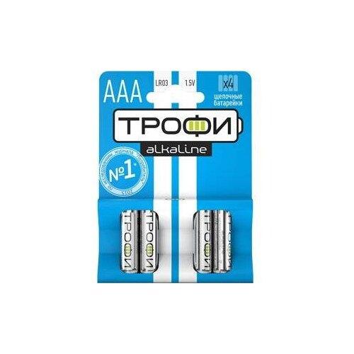 Фото - Батарейка ТРОФИ LR03, 4 шт. батарейка трофи cr1616 1 шт
