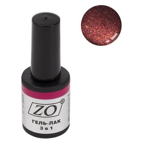 Купить Гель-лак 3 в 1 ZO ZO-GT, 10 мл, 030 коричнево-красный шиммер