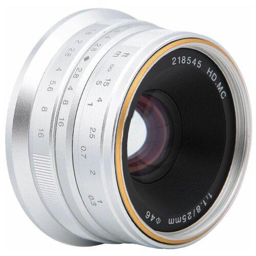Фото - Объектив 7artisans 25mm F1.8 Canon M, серебряный объектив 7artisans 18mm f6 3 canon eos m mount