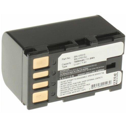 Аккумуляторная батарея iBatt 1600mAh для Jvc GZ-X900, GZ-MG145, GZ-MG275E, для JVC GZ-HD40ER, GZ-MG630RER, для Jvc GZ-MG155EK, GZ-MG330R, GZ-MG650
