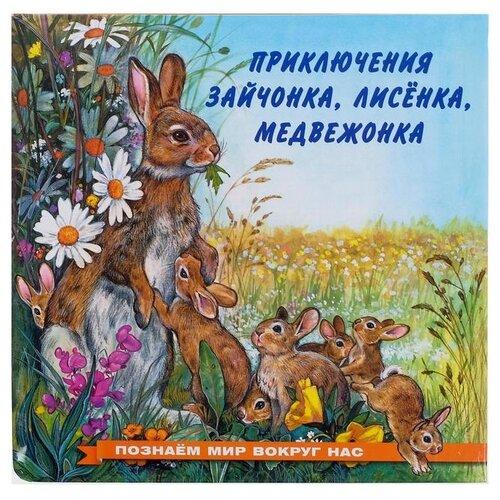 Книга Фламинго Приключения зайчонка, лисенка, медвежонка