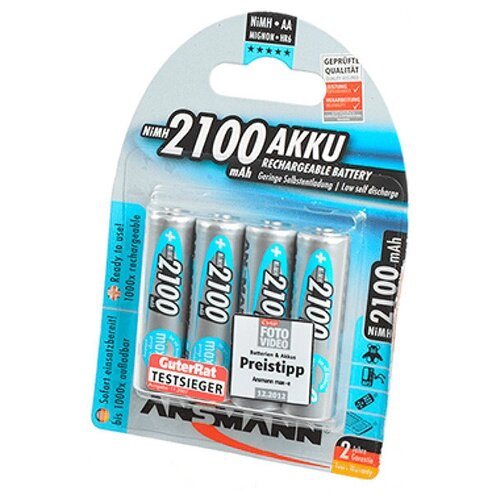 Фото - Аккумулятор AA - Ansmann MaxE 2100 mAh BL4 (4 штуки) 5035052-RU 15894 аккумулятор aa fujitsu hr 3utceu 4b 1900 mah 4 штуки