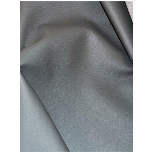 Экокожа автомобильная, искусственная кожа, гладкая - 140х100 см, цвет: светло-серый