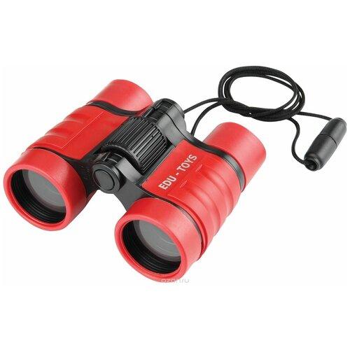 Фото - Бинокль Edu Toys BN009 красный 4x32 наборы для опытов и экспериментов edu toys бинокль js006