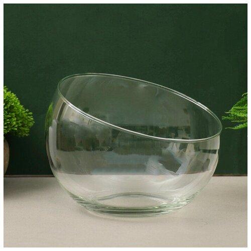 Фото - Evis Ваза Анабель шаровая с косым резом d-19х14,5см, ваза шаровая d 14см 22х19см 5л 1001570