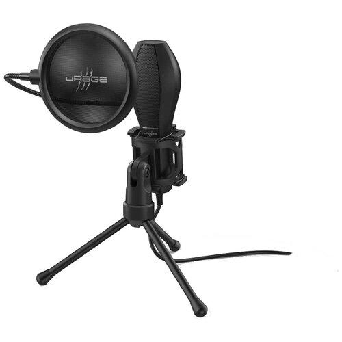 Микрофон проводной Hama Stream 400 Plus 2 м. черный