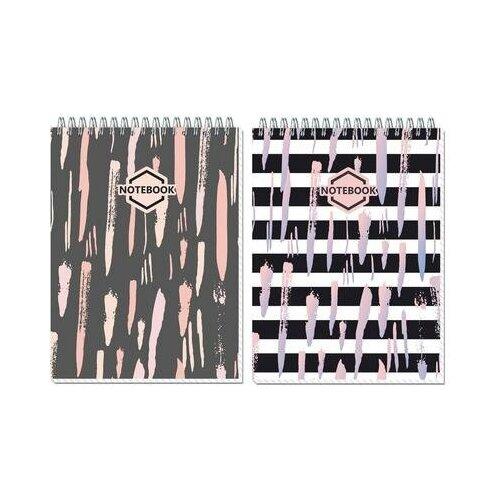 Купить Блокнот Полином Стильный офис А5 80 листов в ассортименте в клетку на спирали (145х203 мм) 6 шт., Блокноты и записные книжки
