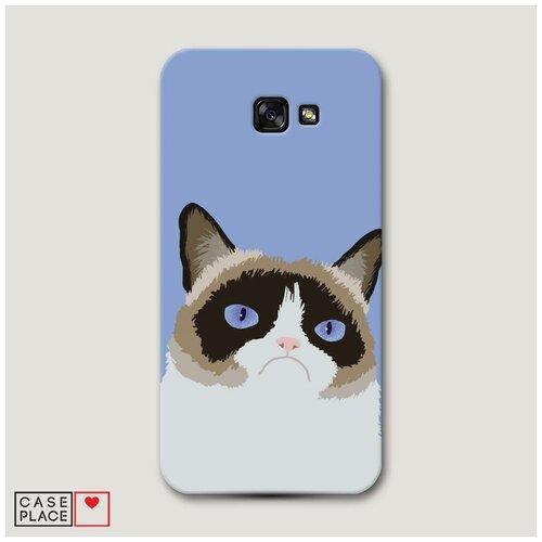 Чехол Пластиковый Samsung Galaxy A7 2017 Мем грустный кот