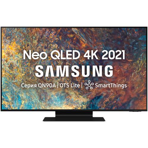 Фото - Телевизор QLED Samsung QE55QN90AAU 54.6 (2021), черный титан телевизор qled samsung qe55q700tau 55 2020 черный титан