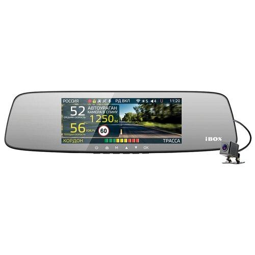 Видеорегистратор с радар-детектором iBOX Range LaserVision WiFi Signature Dual с камерой заднего вида, 2 камеры, GPS, ГЛОНАСС, черный
