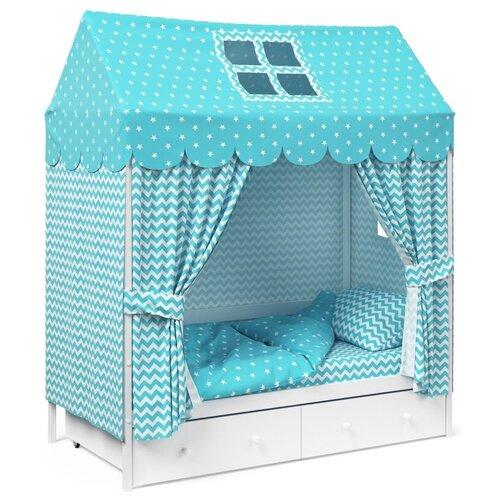 Детское постельное белье Капризун домик Мятный комплекты в кроватку капризун домик 11 предметов