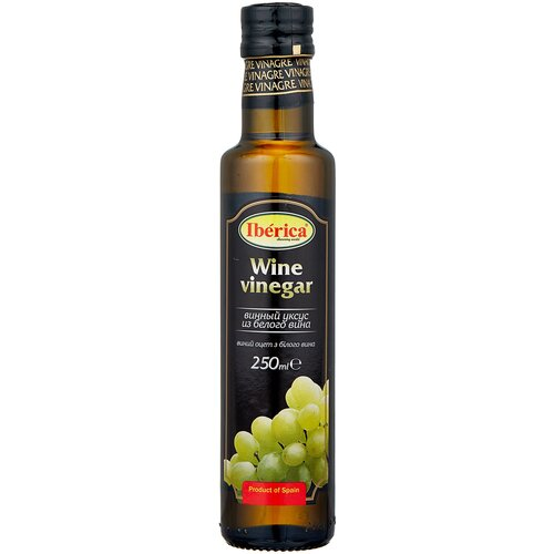 Фото - Уксус Iberica винный из белого вина 6%, 250 мл уксус chatel винный с ароматом малины 6% 500 мл