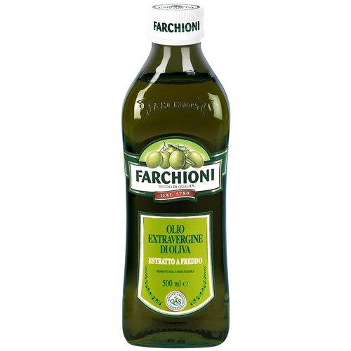 Farchioni масло оливковое Extra Virgin, стеклянная бутылка, 0.5 л масло оливковое farchioni extra virgin di oliva 500 мл