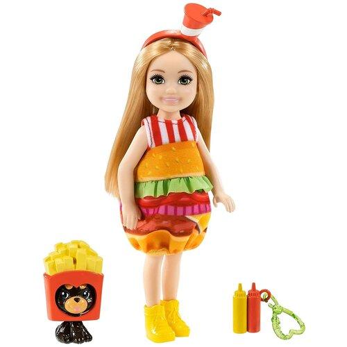 Купить Кукла Barbie Челси с питомцем Бургер, 14 см, GRP69, Куклы и пупсы