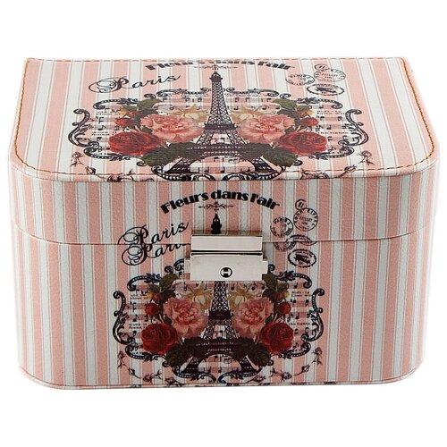 Русские подарки Шкатулка 84317 белый/розовый русские подарки шкатулка для ювелирных украшений 79212 белый